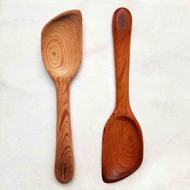 Heart Pine Spatula Spoon